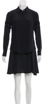 Jonathan Simkhai Long Sleeve Layered Dress