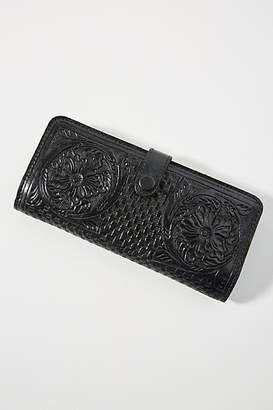 Anthropologie Embossed Leather Wallet
