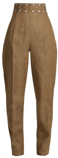 Toga Stud-embellished tapered-leg jeans