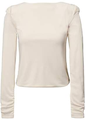 Banana Republic Heritage Rouched Mock-Neck Top
