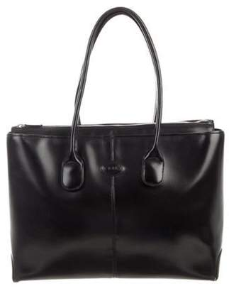 Tod's Smooth Leather Satchel Black Smooth Leather Satchel