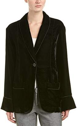 Max Studio Women's Velvet Open Blazer