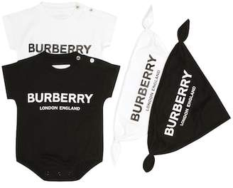 Burberry Pack of 2 bodysuits and bibs