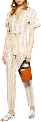 Topshop Binky Stripe Jumpsuit