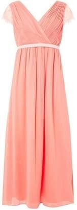 Dorothy Perkins Womens **Showcase Petite Soft Coral 'Athena' Maxi Dress