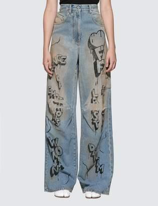 Off-White Off White Graffiti Oversize Tomboy Jeans