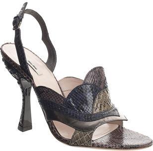 Miu Miu Patchwork Sandal- Violet