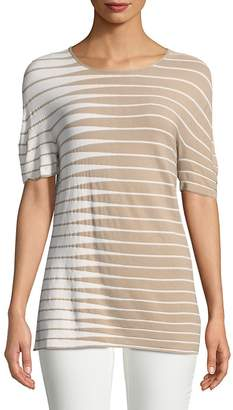 Armani Collezioni Women's Stripe Colorblock Sweater