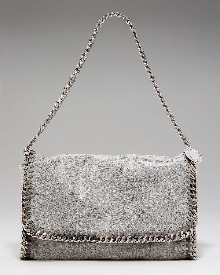 Stella McCartney Metallic Chain-Trim Shoulder Bag