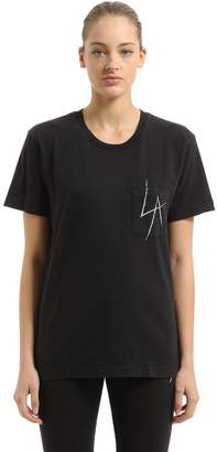 La Slash Cotton Jersey T-Shirt
