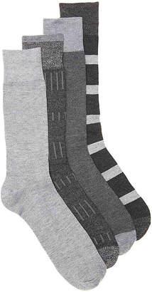 Lucky Brand Bar Color Block Crew Socks - 4 Pack - Men's