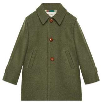Gucci Children's embroidered wool coat