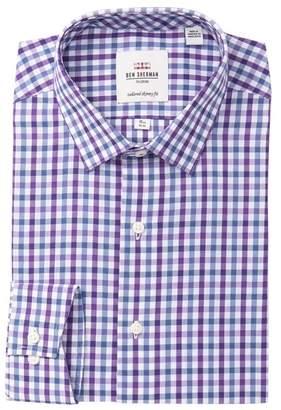 Ben Sherman Check Slate Dobby Tailored Skinny Fit Dress Shirt