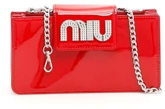 Miu Miu Crystal Pavé Wallet On Chain