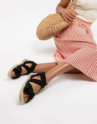 Asos DESIGN Jose suede espadrille sandals