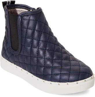 Steve Madden Kids Girls) Navy Quest Quilted High-Top Sneakers