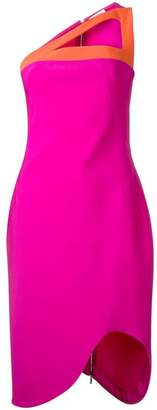 Thierry Mugler contrast fitted dress