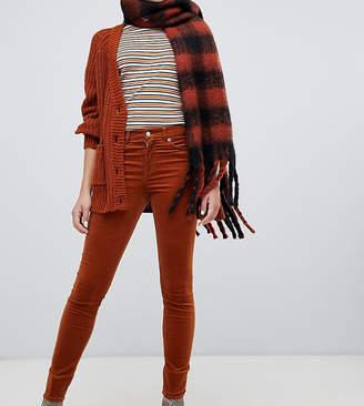 Monki skinny cord pants in rust