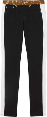 Burberry Straight Fit Deer Print Trim Japanese Denim Jeans