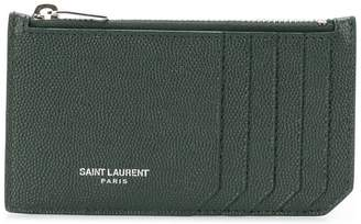 Saint Laurent Fragment zipped cardholder