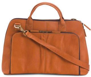 Soho Slim Leather Laptop Briefcase
