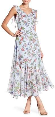 Nanette Lepore NANETTE Floral Printed Maxi Ruffle Dress