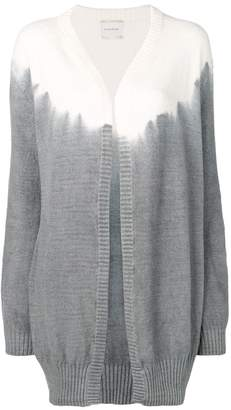 Fine Edge tie-dye effect cardigan