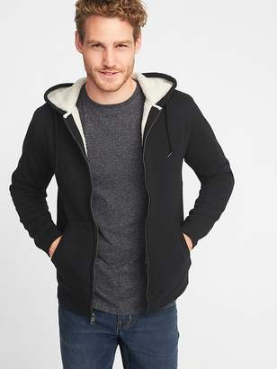Old Navy Classic Sherpa-Lined Full-Zip Hoodie for Men