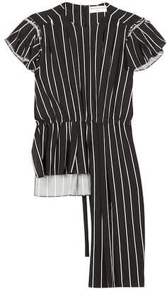 Balenciaga Frill striped top
