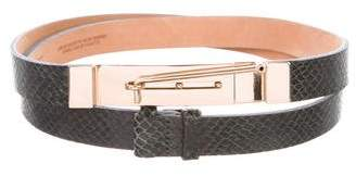 MAISON BOINET Embossed Leather Belt