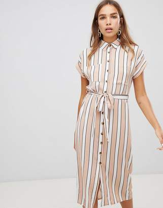 New Look midi shirt dress in stripe