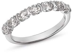 Bloomingdale's Diamond Seven Stone Band in 14K White Gold, 1.0 ct. t.w. - 100% Exclusive