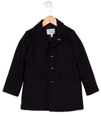Armani Junior Boys' Wool Button-Up Coat