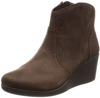 Crocs (クロックス) - [クロックス] レイ シンセティック スエード ウェッジ ブーティ ウィメン ブーツ 203864 Espresso W6.5(22.5cm)