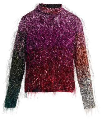 dc9dfe64c1f9c Ashish Tinsel Sequin Embellished Silk Top - Womens - Multi