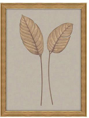Melissa Van Hise Leaves on Linen II - Oversize Art