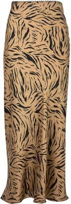 Dorothy Perkins Womens Multi Colour Sienna Satin Midi Skirt