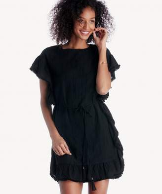 Sole Society Frill Edge Tunic With Waist Tie