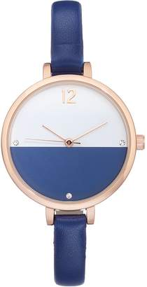 Women's Crystal Colorblock Watch