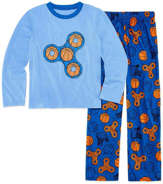 LICENSED PROPERTIES Basketball Fidget Spinner 2 Piece Pajama Set - Boys 4-20
