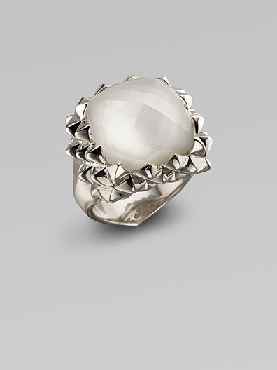 Stephen Webster Mother-of-Pearl, Clear Quartz & Sterling Silver Ring
