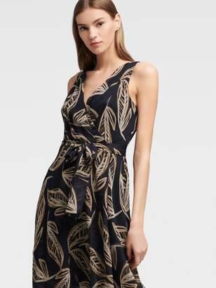 DKNY Palm Print Wrap Dress