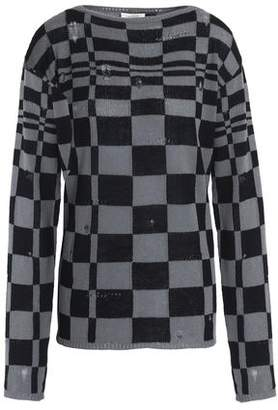 Marc Jacobs (マーク ジェイコブス) - Marc Jacobs Distressed Checked Wool And Cashmere-Blend Sweater