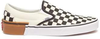 Vans 'Gum Block Classic Slip On' colourblock checkerboard skates
