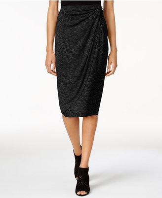 Bar Iii Draped Faux-Wrap Skirt, Created for Macy's $49.50 thestylecure.com