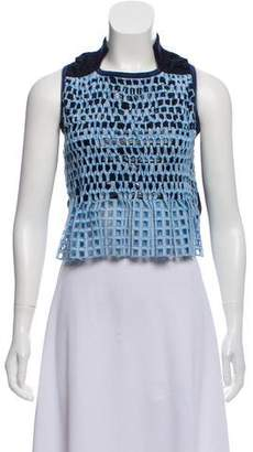 Sacai Embroidered Sleeveless Top