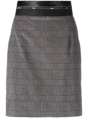MSGM tartan fitted skirt