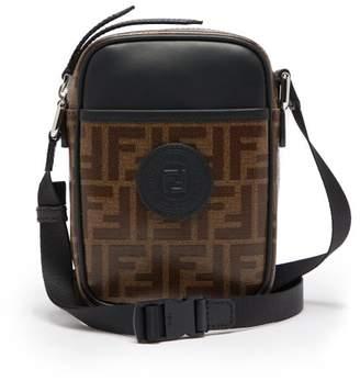 b1bb45fcc2f Fendi Ff Cross Body Leather And Canvas Camera Bag - Mens - Brown