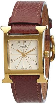 Hermes Heure H leather watch