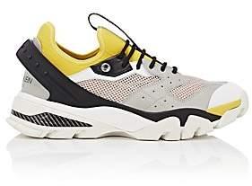 Calvin Klein Men's Rubber-Strap Leather & Mesh Sneakers-White